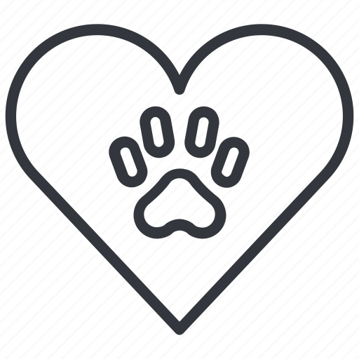 animal, cats, heart, love, paw, pet, yummy icon