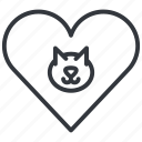 animal, cats, head, heart, love, pet, yummy icon