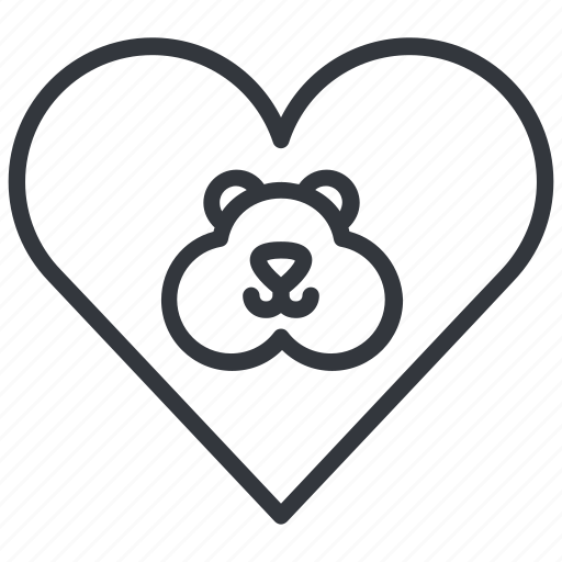 animal, hamster, heart, love, pet, rodent, yummy icon