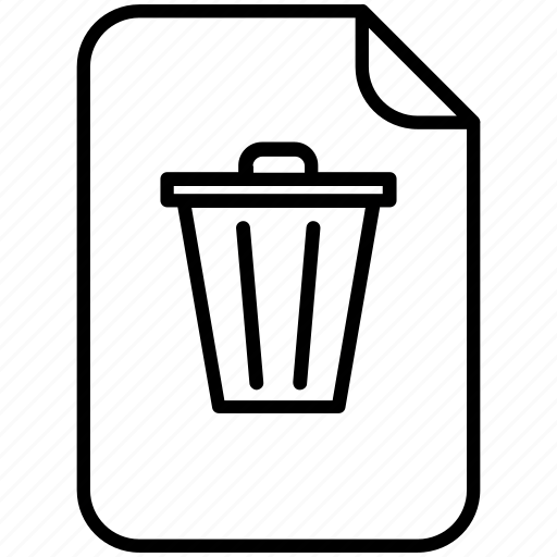 bin, delete, document, erase, pc, recycle bin, yummy icon