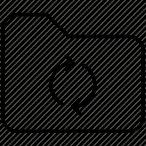 folder, pc, refresh, reload, sync, yummy icon