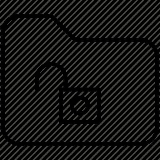 documents, folder, pc, protection, unlock, unlocked, yummy icon