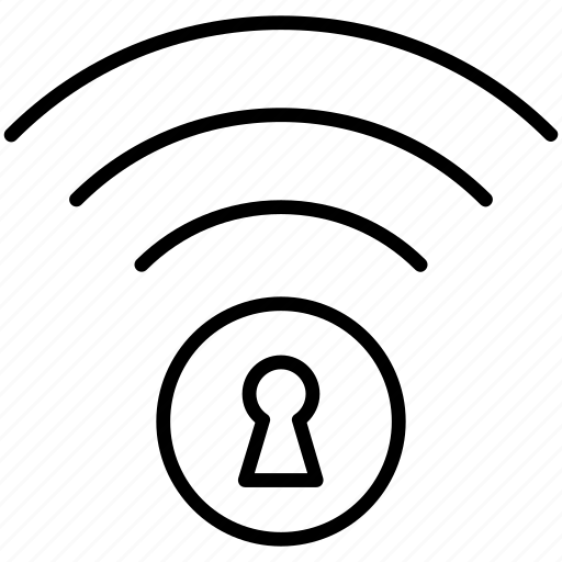 connection, lock, pc, private, secure, wi-fi, yummy icon