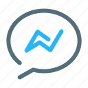 chat, facebook, messenger icon