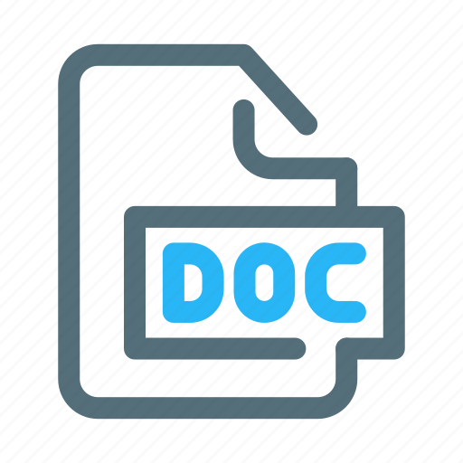 Doc, file, format, microsoft, word icon - Download on Iconfinder