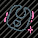 baby, bib, infant icon