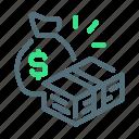 balances, cash, earnings, money icon