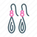 accessories, earrings icon
