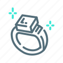 jewelry, ring icon