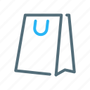 bag, cart, paper, shopping icon