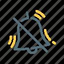 alarm, notification, off, silent icon