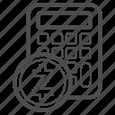 account, calc, price, zcash icon