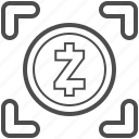 bill, cash, money, zcash icon