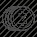 bill, cash, coin, money, zcash icon