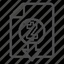 cash, document, down, download, out, zcash