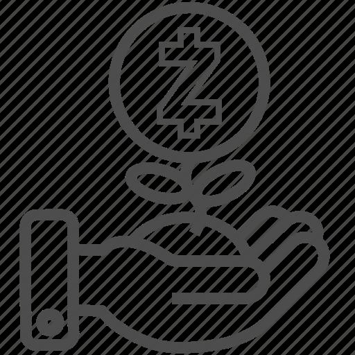 save, saving, zcash icon