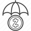 save, saving, zcash icon