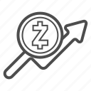 bill, cash, price, statistics, zcash icon