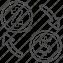 bill, cash, money, transfer, zcash icon