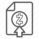 deposit, document, up, upload, zcash icon