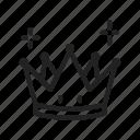 crown, king, premium icon