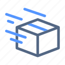 delivering, package, parcel, shipped icon