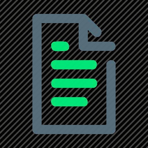 homework, paper, task icon
