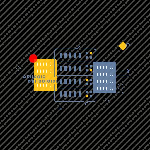 base, data, rack, server icon