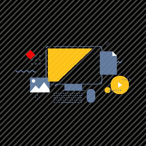 computer, desktop, work, workspace icon