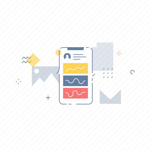 app, graph, mobile, work icon