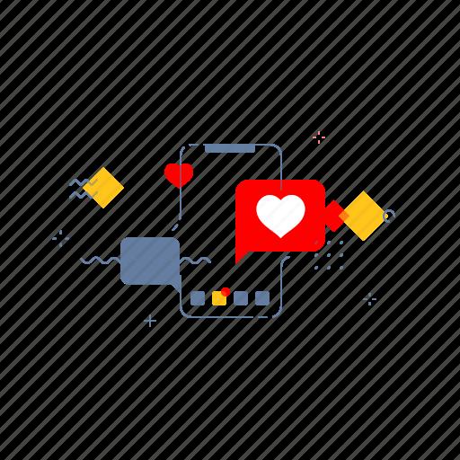 Love, message, mobile, valentine icon - Download on Iconfinder