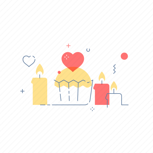 candle, dinner, love, romantic icon