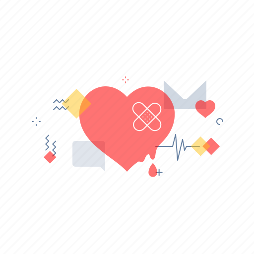 Heart, love, pain, patch icon - Download on Iconfinder