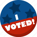 america, election, i voted, star, vote, voting