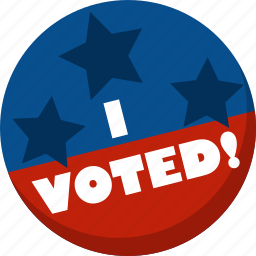 america, election, i voted, star, vote, voting icon