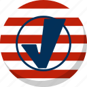 america, check, election, stripes, vote, voting icon