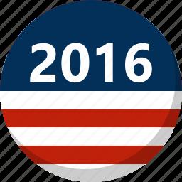 america, election, flag, stripes, vote, voting icon