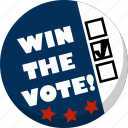 america, ballot, check, election, vote, voting icon