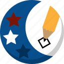 america, ballot, election, pencil, vote, voting icon