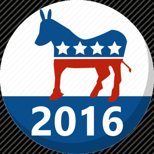 america, democrat, election, vote, voting icon