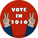 america, election, hands, peace, vote, voting icon
