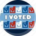 america, ballot, check, election, i voted, vote, voting icon