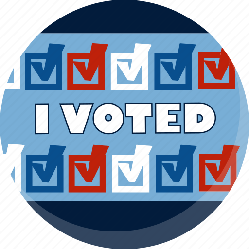 america, ballot, check, election, i voted, vote, voting icon