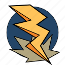 bolt, dungeons, fantasy, lightning, magic, roleplay, spell icon