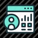 admin, dashboard, panel icon
