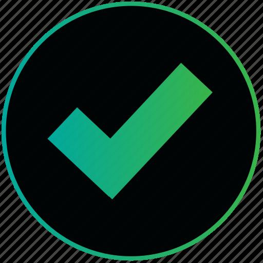 arrows, navigation, right, sign, true, trust, verify icon