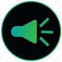 audio, music, player, sound, sound on, speaker, volume icon