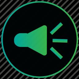 audio, music, player, sound, sound on, speaker, volume icon