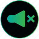 audio, off, sound, sound off, speaker, volume icon