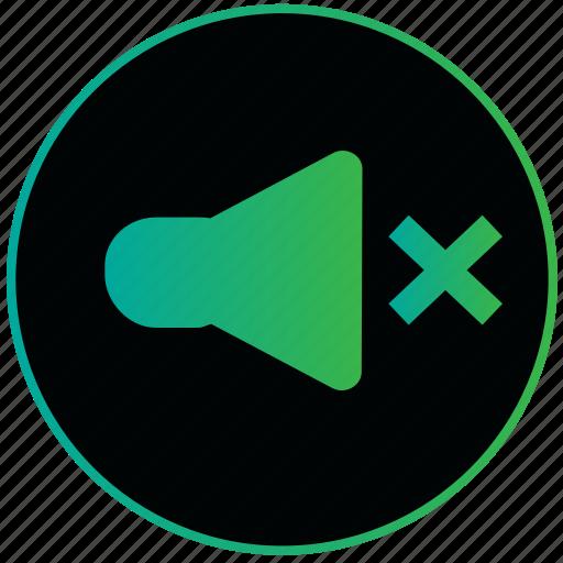 audio, off, sound, sound off, speaker, volume icon
